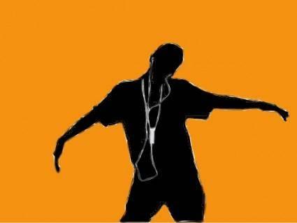 free vector Ipod Boy clip art