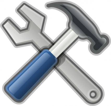 Andy Tools Hammer Spanner clip art