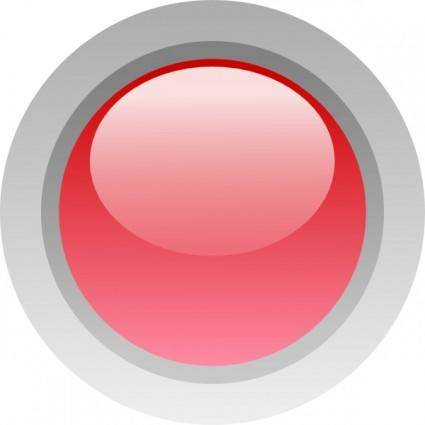 Led Circle (red) clip art