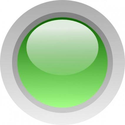 Led Circle (green) clip art