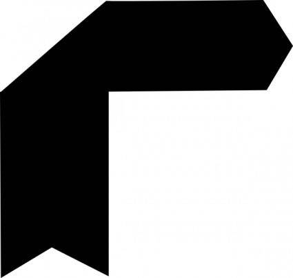 free vector Up Right Black Arrow clip art