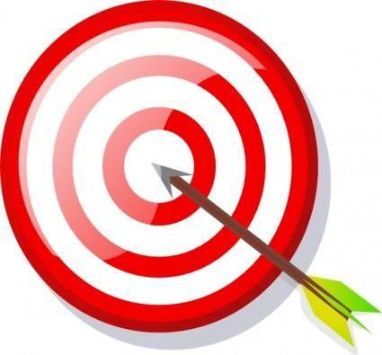 Target With Arrow clip art