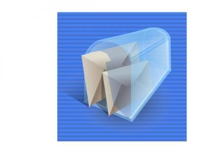 free vector Mail Box Full Icon clip art