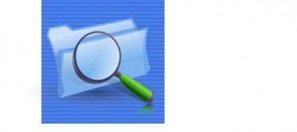 free vector Search Folders Icon clip art