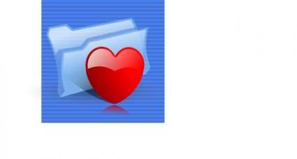 Favorites Folder Icon clip art