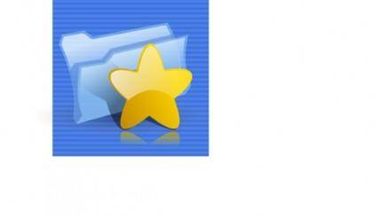 free vector Bookmarks Folder Icon clip art
