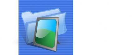 free vector Pictures Folder Icon clip art