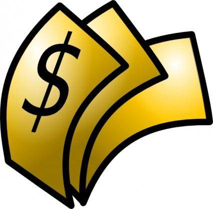 Gold Theme Money Dollars clip art