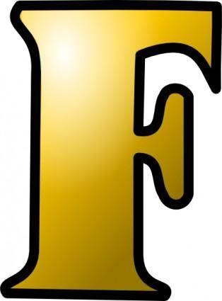 Letter F Icon clip art