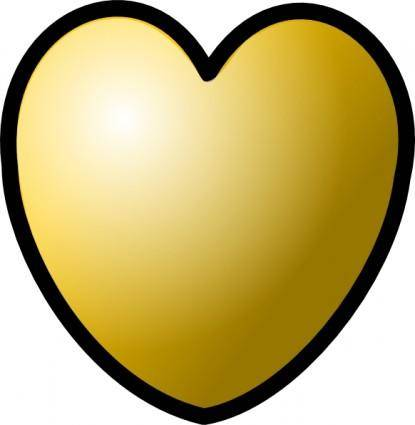 free vector Heart Gold Theme clip art