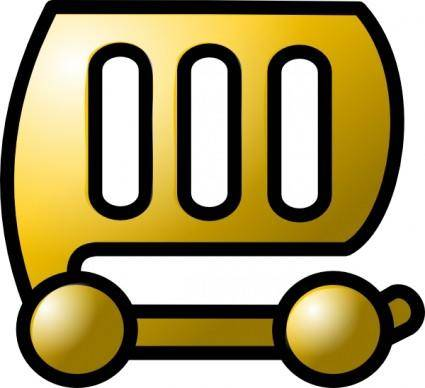 Car Gold Theme clip art
