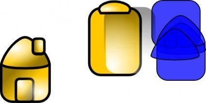 free vector Gold Theme Home clip art