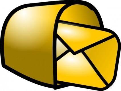 Gold Theme Mailbox Mail clip art