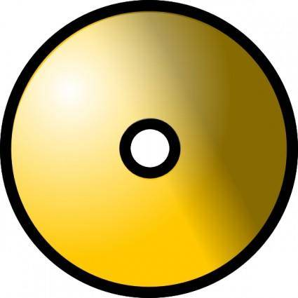 Gold Theme Cd Dvd clip art