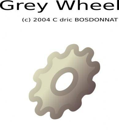 Grey Wheel clip art