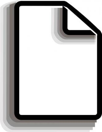 free vector Clip_of_new_file clip art
