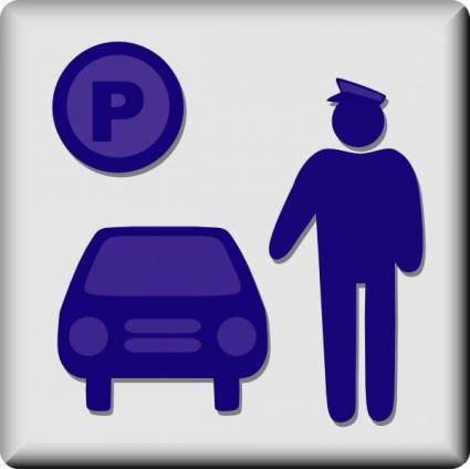 Hotel Icon Valet Parking clip art