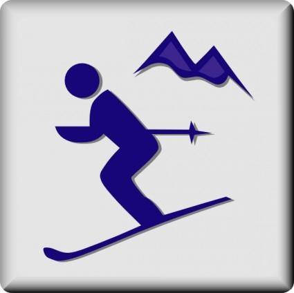 free vector Hotel Icon Ski Area clip art