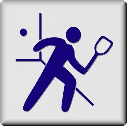 Hotel Icon Racquetball clip art