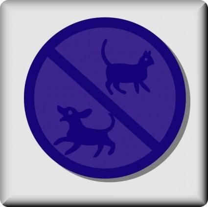 Hotel Icon No Pets clip art