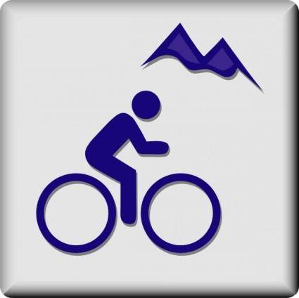 Hotel Icon Mountain Biking clip art