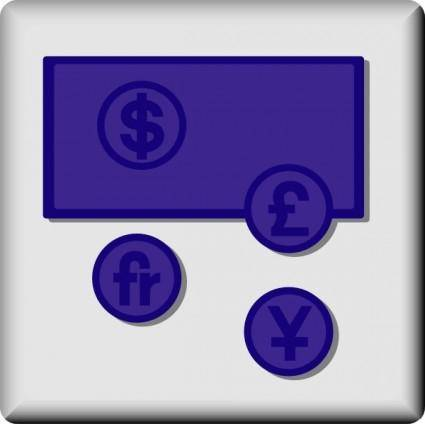 Hotel Icon Money Exchange clip art