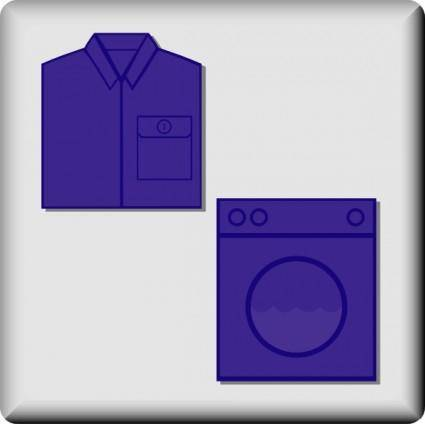 Hotel Icon Laundry Service clip art