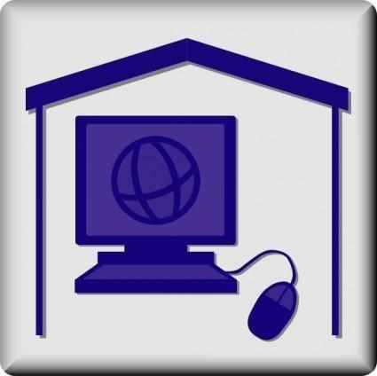 free vector Hotel Icon In Room Web Access clip art