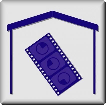 free vector Hotel Icon In Room Movie clip art