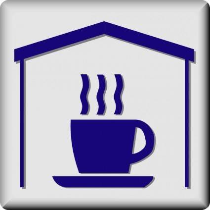 free vector Hotel Icon In Room Coffee And Tea clip art