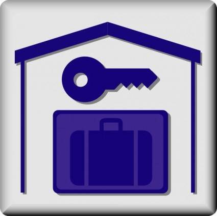 Hotel Icon In Room Baggage Locker clip art