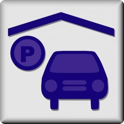 free vector Hotel Icon Indoor Parking clip art