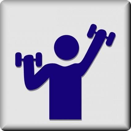 free vector Hotel Icon Gym clip art