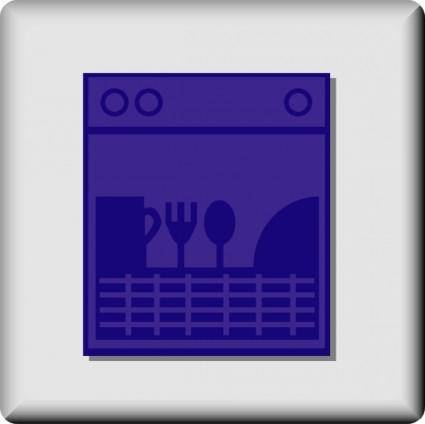 Hotel Icon Dishwasher clip art