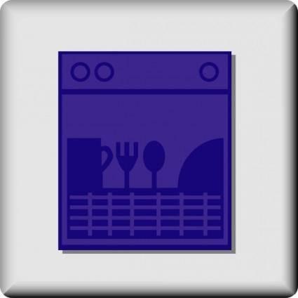 free vector Hotel Icon Dishwasher clip art
