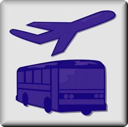free vector Hotel Icon Airport Shuttle clip art