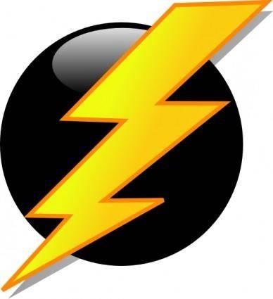 Lightning Icon clip art