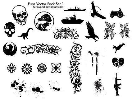 free vector Fura vector pack set 1 vector