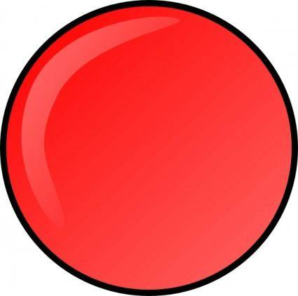 Red Round Button clip art