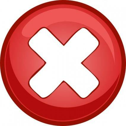 free vector Red Cross X clip art