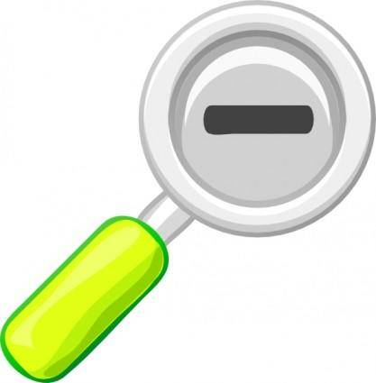 free vector Zoom Out Lens Icon clip art