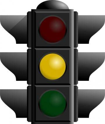 Traffic Light: Yellow clip art