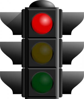 Traffic Light: Red clip art