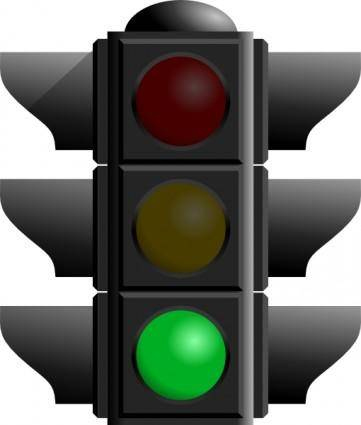 Traffic Light: Green clip art