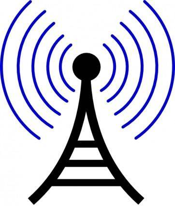 free vector Radio/wireless Tower clip art