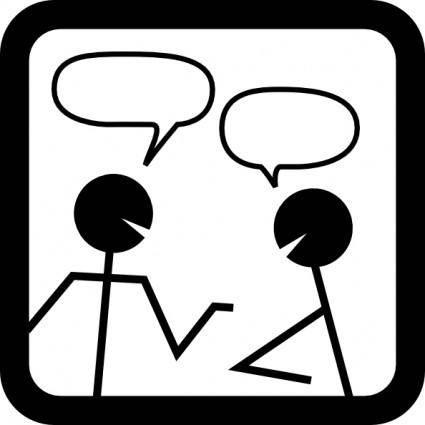 Chat Icon clip art