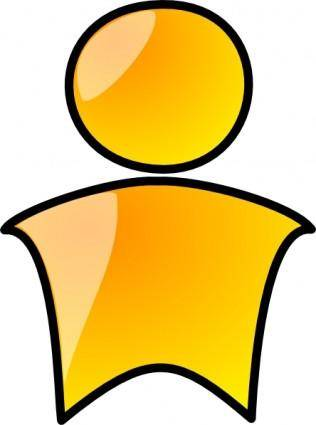 Head Symbol Yellow Person clip art