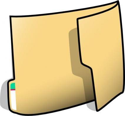 Fancy Folder clip art