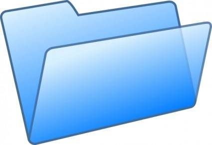 Blue Folder clip art