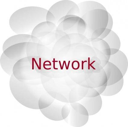 Network Cloud clip art